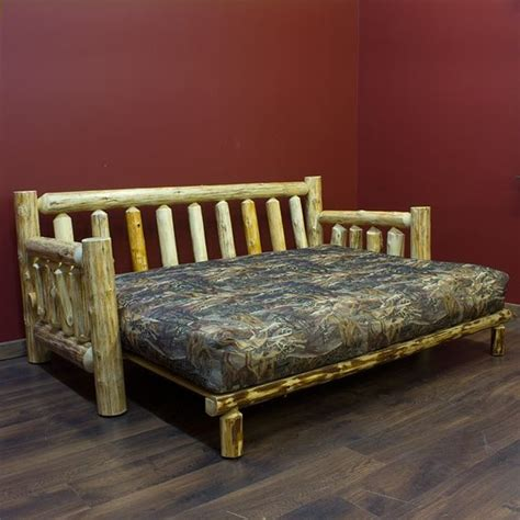 Log Futon Beds Rustic Futons Cabin Style Futon Folding Cabin Bed With Sofa