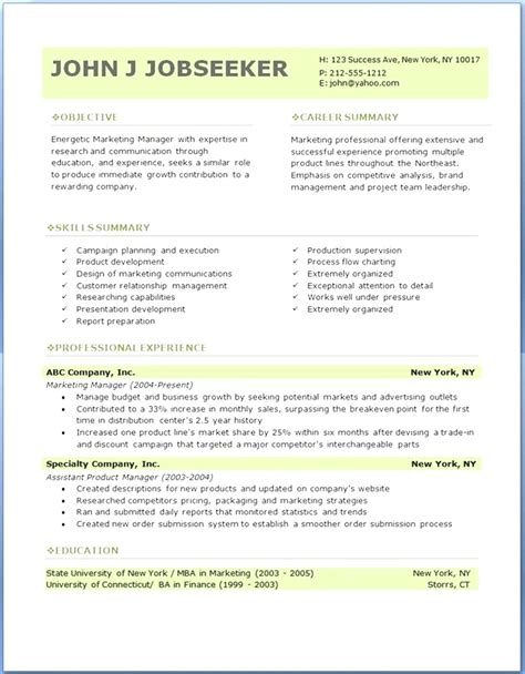 downloadable best resume templates for it professionals