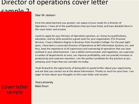 unique director of operations cover letter sle 87 on