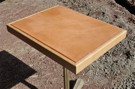 custom made leather project table top by underwood