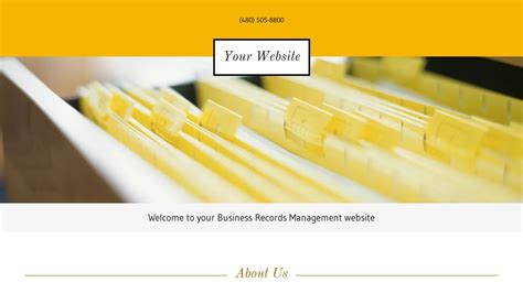 Business Records Exle 15 Business Records Management Website Template Godaddy