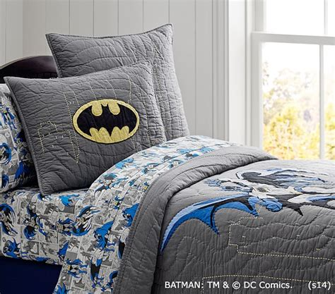 batman bedding batman quilt pottery barn