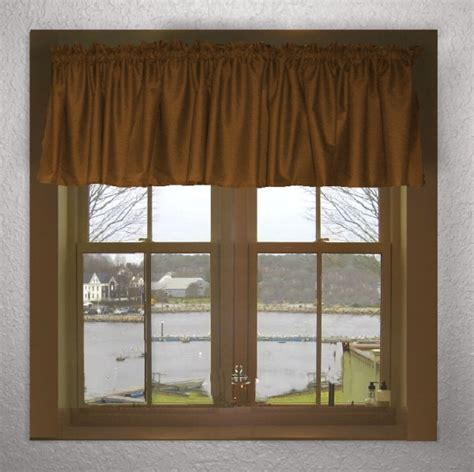 Colored Valances Solid Copper Brown Color Valance In Many Lengths Custom Size