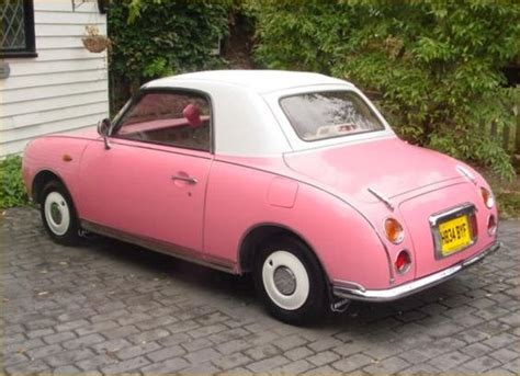 pink nissan pink nissan figaro cars pinterest