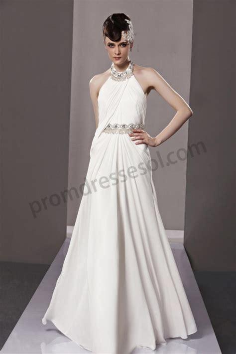 beaded white prom dress prom dresses white beaded halter chiffon