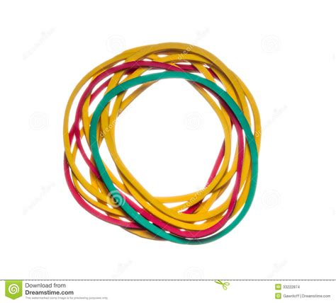 colored rubber bands colored rubber bands stock images image 33222874