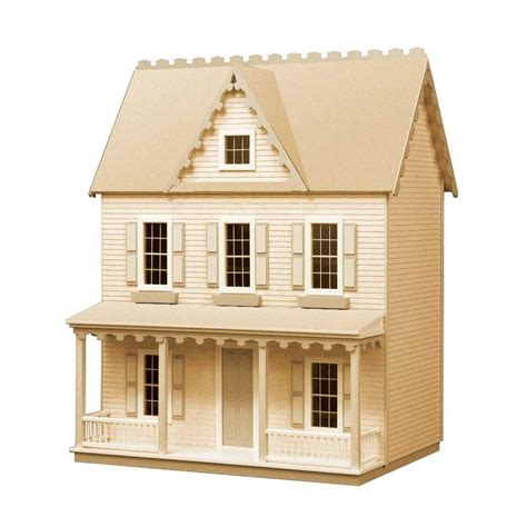 farmhouse kit vermont farmhouse jr dollhouse kit 94589 the home depot