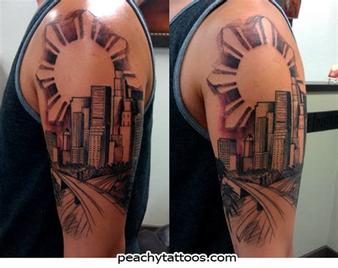 la skyline tattoo los angeles tattoos ideas