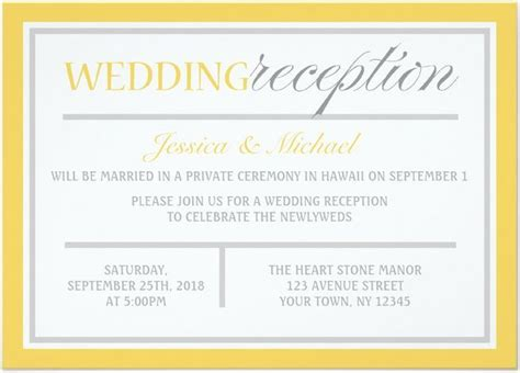 wedding reception invite sles 21 beautiful at home wedding reception invitations destination wedding details