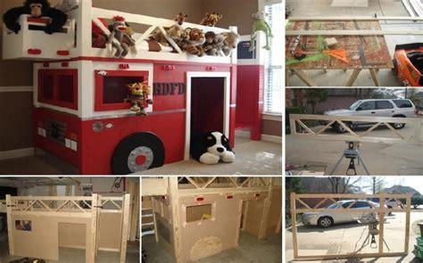 firetruck bunk bed how to build a truck bunk bed home design garden