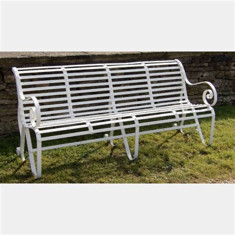 antique wrought iron garden bench antique wrought iron garden bench holloways garden antiques and ornaments