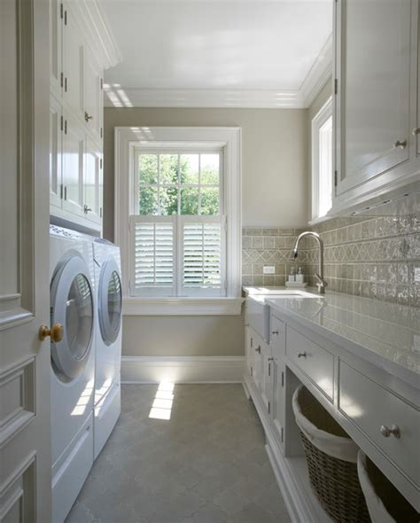 Ceiling Options Home Design by Georgian Residence New Canaan Traditional Laundry Room