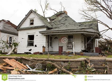 house missouri tornado damaged house joplin mo royalty free stock image