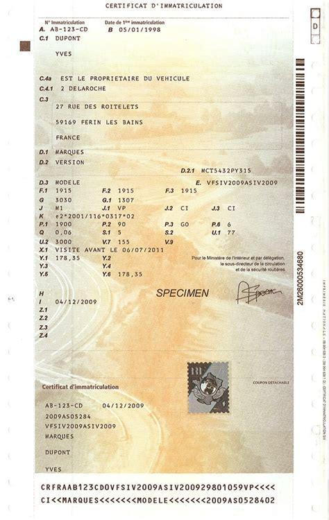 carte grise w garage francuski dow 243 d rejestracyjny historia i przebieg pojazdu