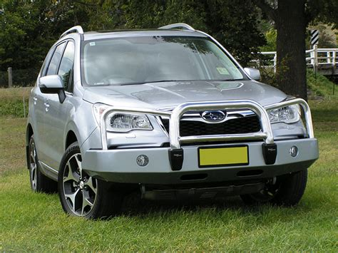 subaru forester road bumper forester 13 on offroad bullbar subaxtreme