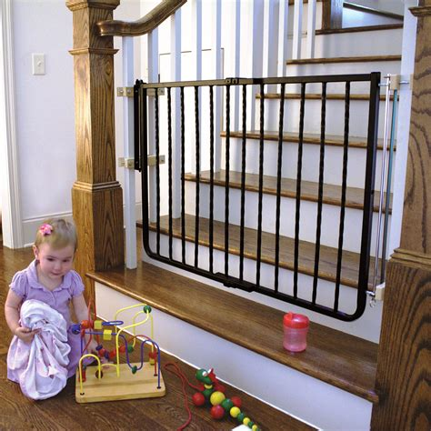 top of stairs banister baby gate baby gate for stairs with banister neaucomic com