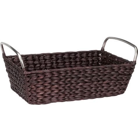 bathroom storage basket in wicker baskets