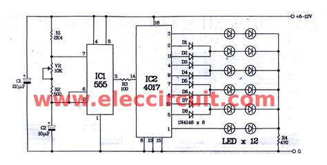 bi colour led running lights circuit diagram world running light circuit diagram pdf circuit diagram images