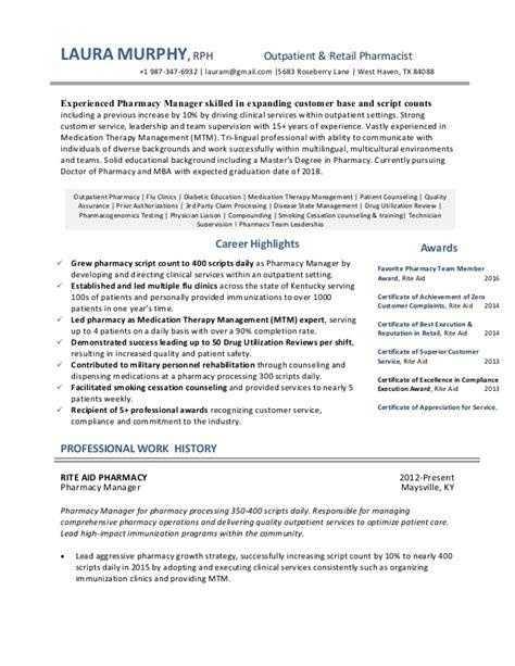 Ambulatory Pharmacist Sle Resume by Outpatient Resume Exle 3