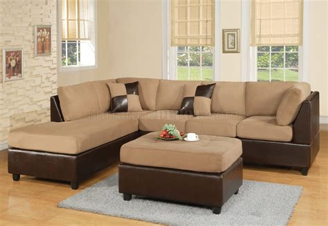 two tone couch mocha fabric modern two tone sectional sofa w bycast base