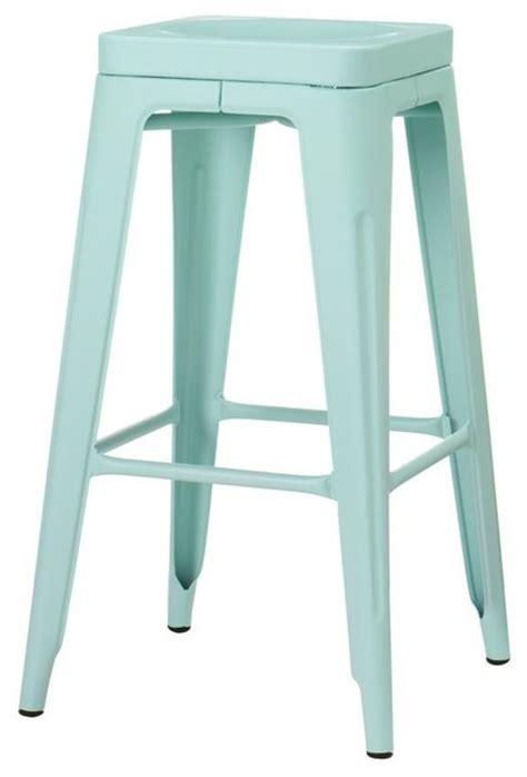 Home Decorators Bar Stools by Garden Backless Bar Stool Blue Modern Bar Stools And
