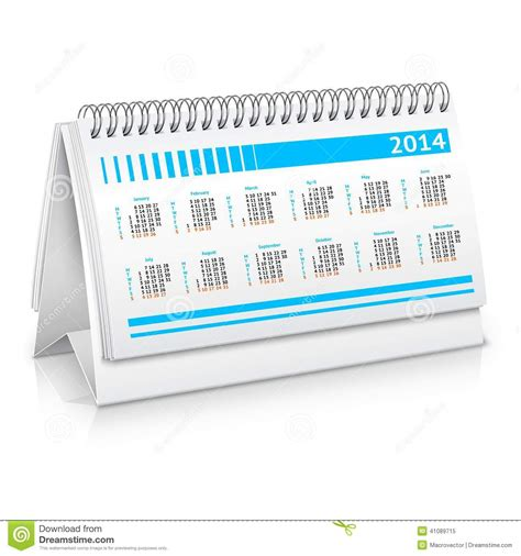 the office desk calendar desk calendar mockup stock vector image 41089715