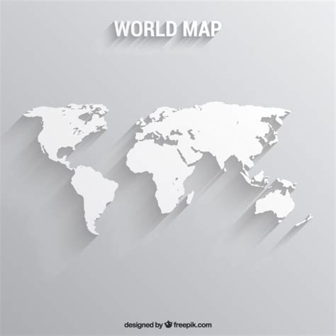 free vector map white world map vector free