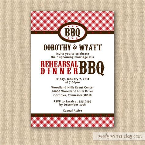 barbeque rehearsal dinner invitations 17 best images about barbecue invitations on