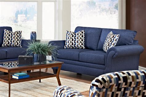 blue couch set navy blue living room furniture modern house