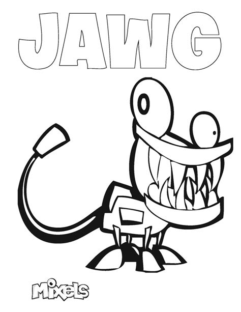 mixels coloring page jawg eric s activity pages