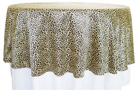leopard print table overlays 90 quot leopard print satin table overlays 80580 1pc