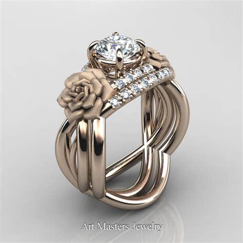 nature inspired 14k gold 1 0 ct white sapphire