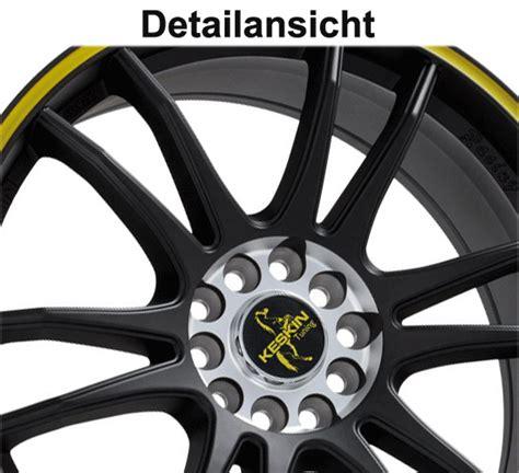 corsa d opc felgen gutachten 18 quot keskin kt12 racing gelb schwarz alufelgen f 252 r opel