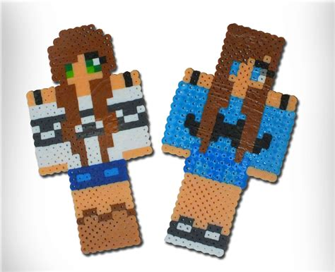 Handmade Minecraft - custom minecraft inspired skin pearler bead on storenvy