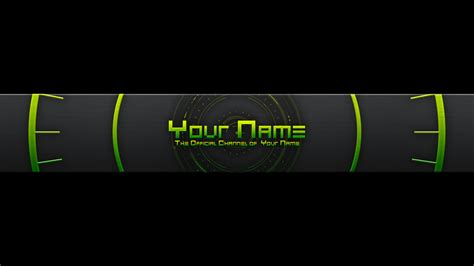 yt banner template template design
