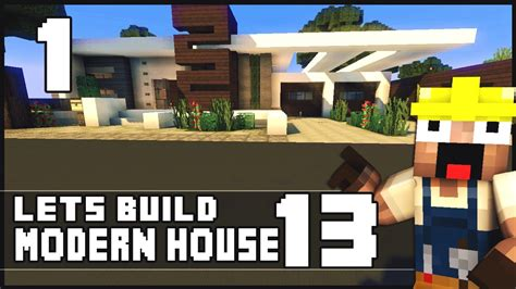 how to build a small modern house minecraft lets build modern house 13 part 1 youtube