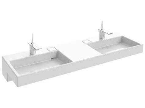 Wc Jacob Delafon 3435 terrace plan vasque avec bandeau led 150 cm l 150