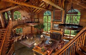 log cabin interior mountain