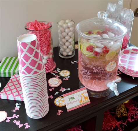 Baby Shower Drink by Pink Baby Shower Drink Station Free Birthday