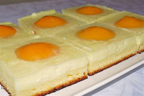 pfirsich quark kuchen blech spiegeleikuchen vom blech paula18 chefkoch de
