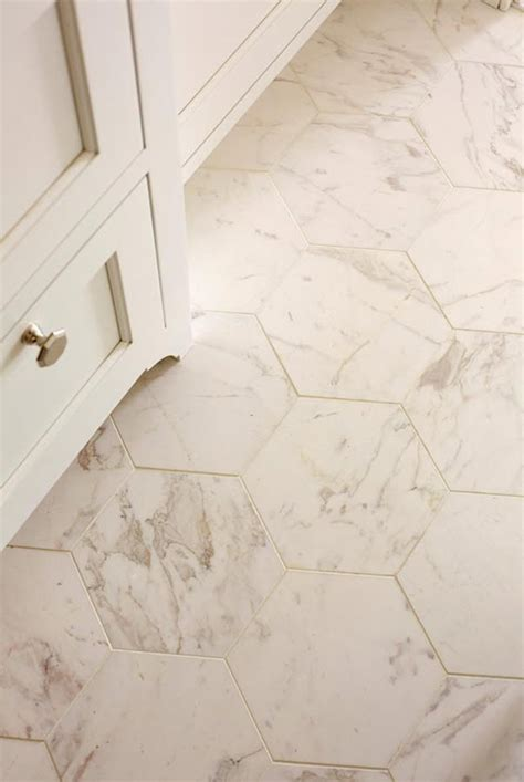 Hexagon Tile Bathroom Floor by 32 White Hexagon Bathroom Tile Ideas And Pictures