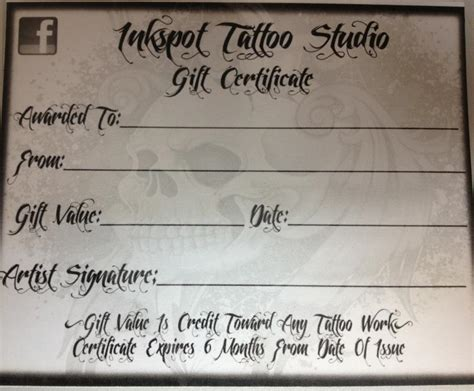 Tattoo Gift Card Template - gift cards archives pictures to pin on pinterest tattooskid