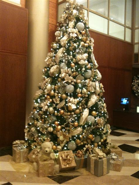 the christmas tree at my office silver gold holiday