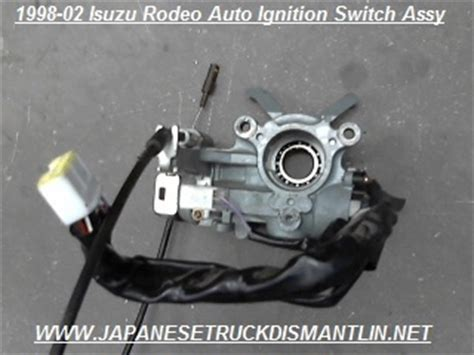 How To Replace Ignition Tumbler 1999 Isuzu Rodeo