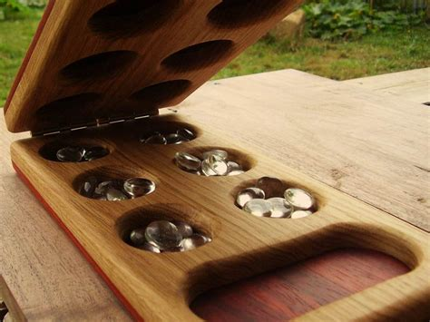 Handmade Mancala Board - teach strategy and patience with mancala by heartwood