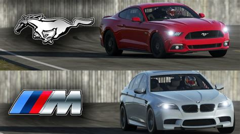Mustang Vs Bmw by Ford Mustang Gt Vs Bmw M5 Top Gear Track