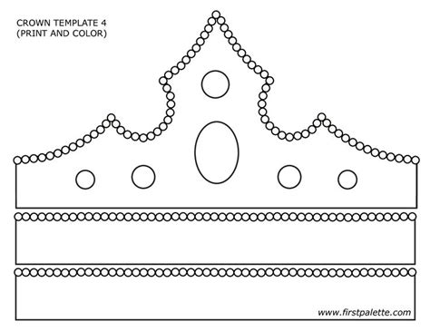 template of a crown paper crown template search primary