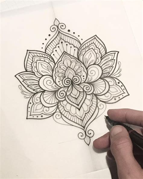 mandala rose tattoo design mehndi best 25 lotus mandala ideas on