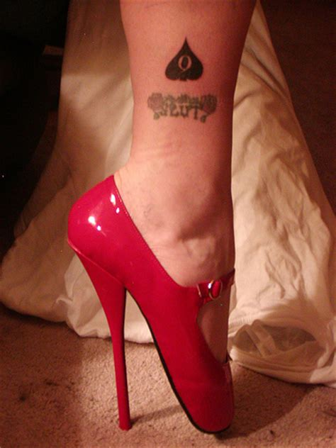 white sissy bbc trainer black spade tattoo 022 marked as a slut devoted to bbc