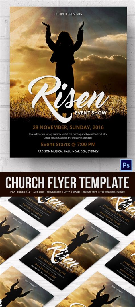 Church Flyers 46 Free Psd Ai Vector Eps Format Download Free Premium Templates Free Printable Church Event Flyer Templates